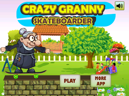 Crazy Angry Granny Skate Run