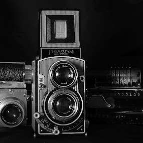 Antiques by Charles KAVYS - Artistic Objects Still Life ( flexaret, bw, exakta, old cameras, antiques,  )