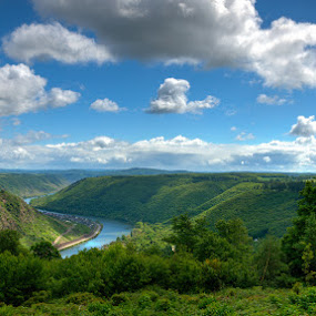 Mosel by Mischa Firges - Landscapes Forests ( hdr, germany, landscapes, mosel, river )