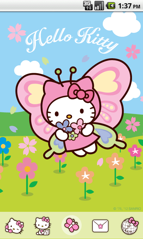 Hello Kitty Butterfly Theme Android Apps On Google Play
