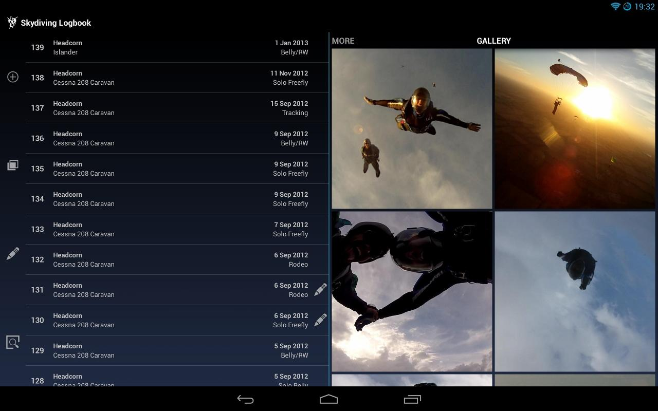 Skydiving Logbook - screenshot