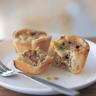 Ham and Spinach Quiches