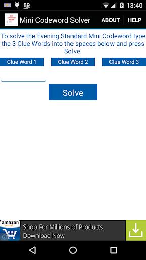 Mini Codeword Solver