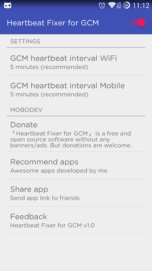 Heartbeat Fixer for GCM- screenshot