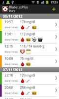 Screenshot of Diabetes Plus