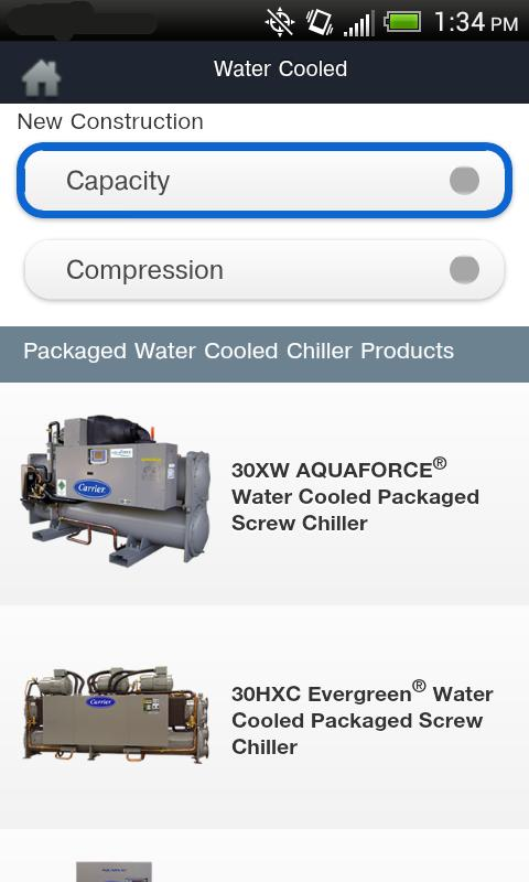 Carrier® Chillers - screenshot