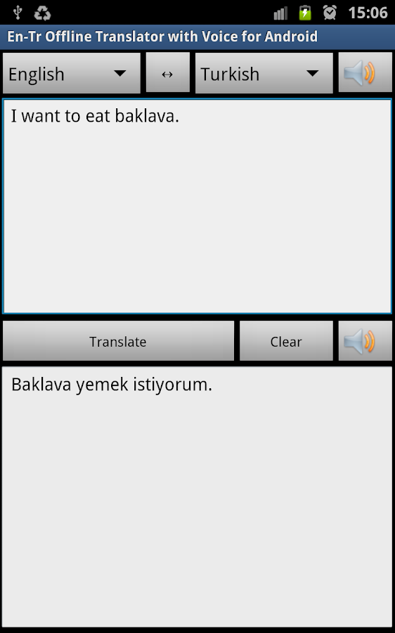 Turkish Offline Translator Pro - screenshot