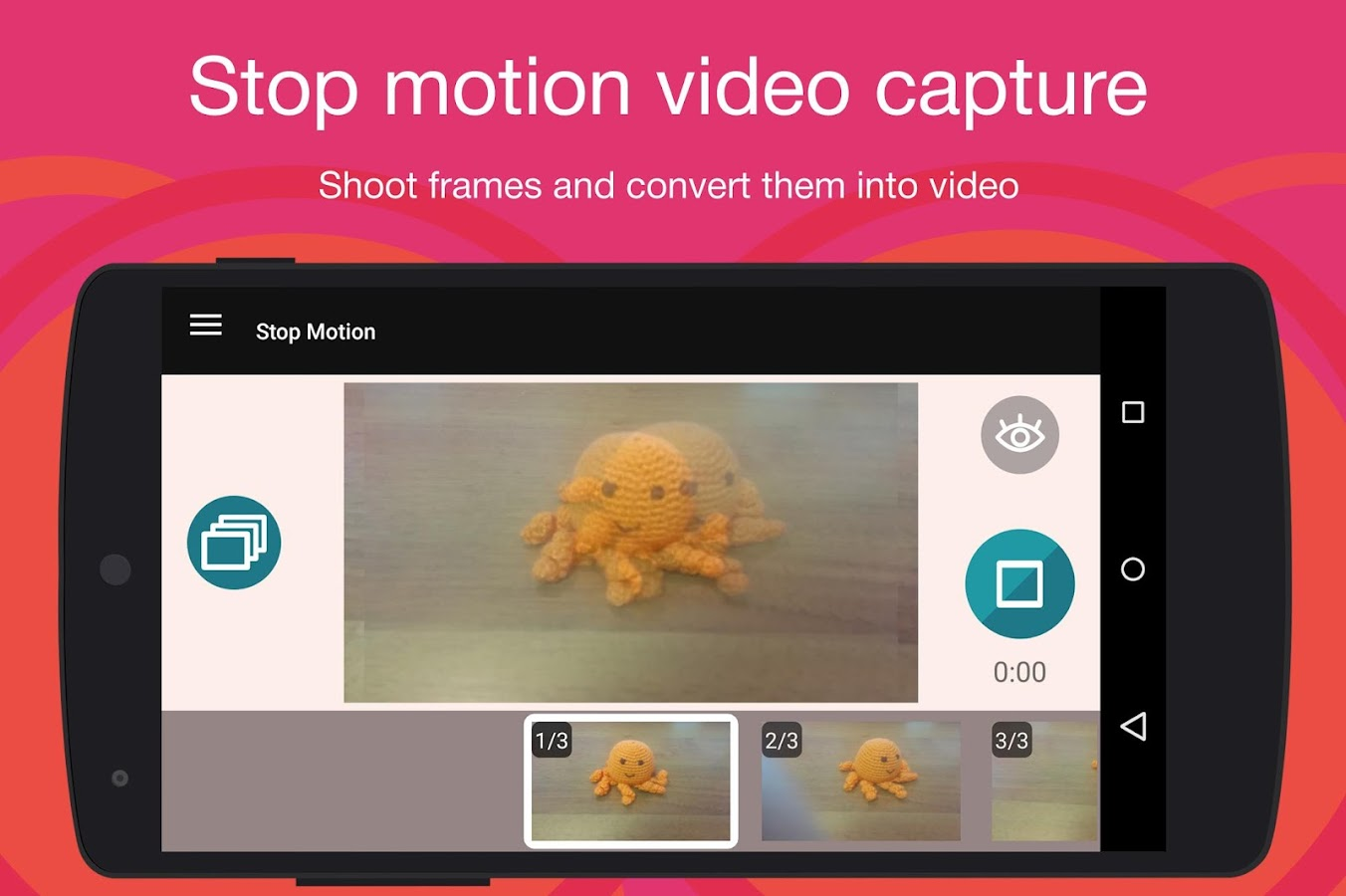 Stop Motion Cartoon Maker: captura de pantalla