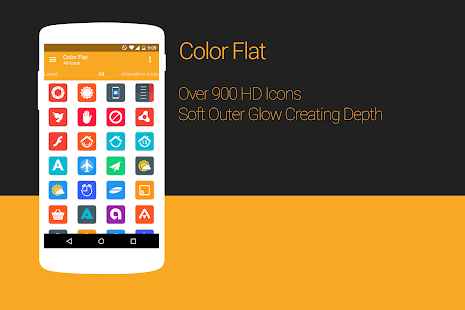 Color Flat - Icon Pack - screenshot thumbnail