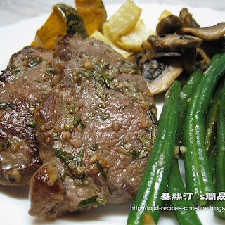 Pan-Fried Lamb Leg Steak with Rosemary