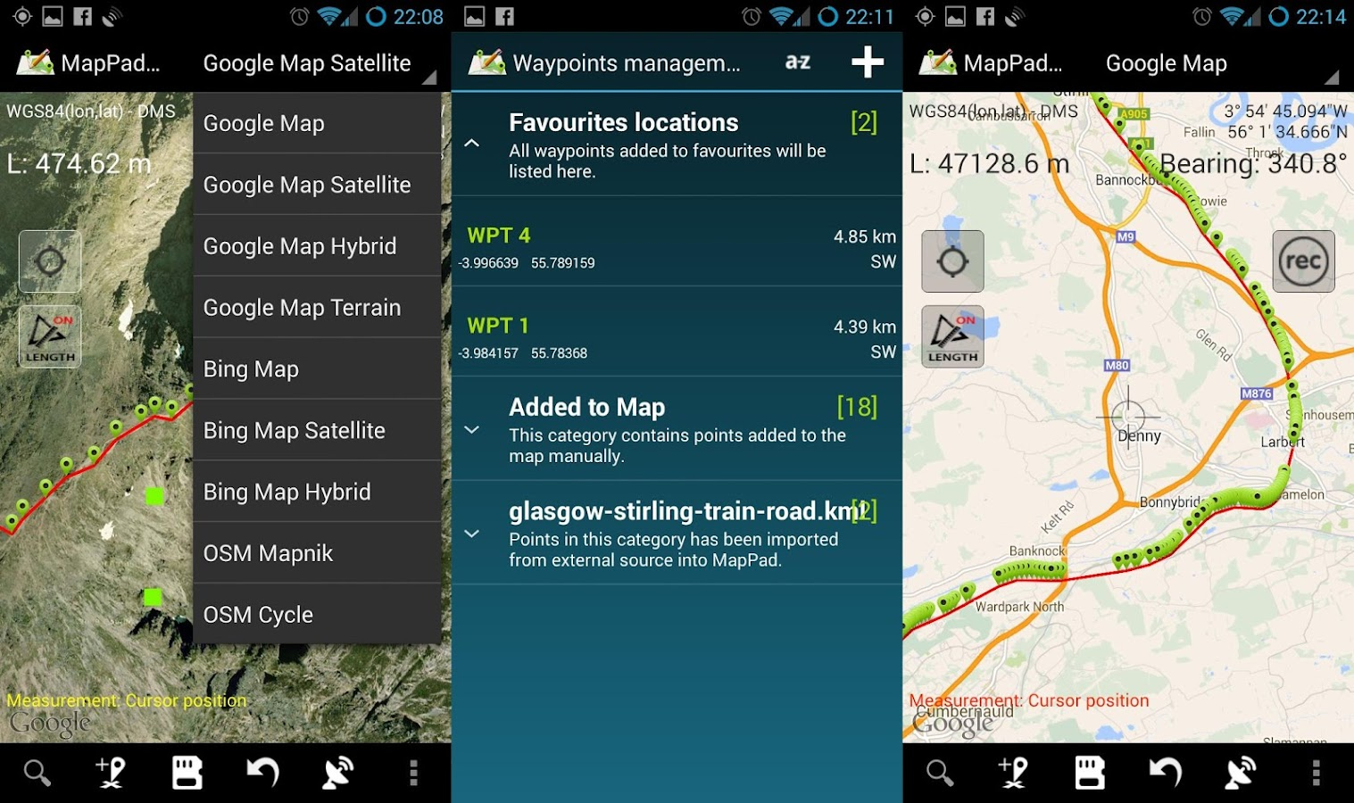 Map Pad GPS Land Surveys & Measurements- screenshot