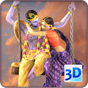 3D Radha Krishna Jhulan Live Wallpaper icon