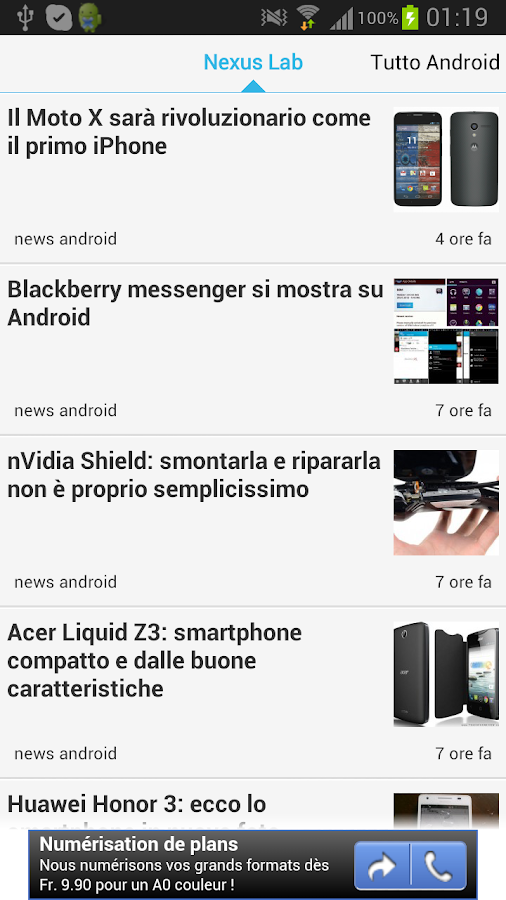 Android Notizie - screenshot
