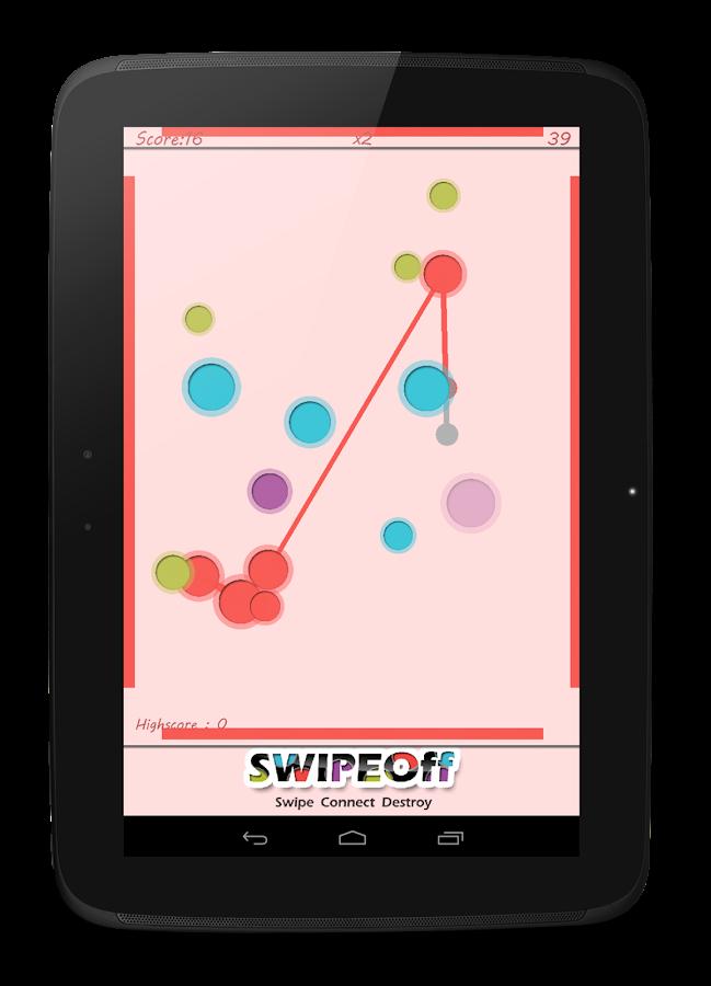 Swipe Off : a moving Dots Game - screenshot