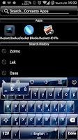 Screenshot of Theme TouchPal Glass Blue