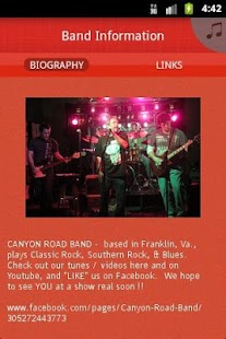 CANYON ROAD BAND - screenshot thumbnail