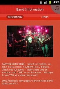 CANYON ROAD BAND - screenshot thumbnail