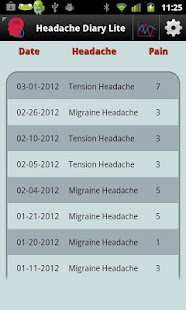 Headache Diary Lite - screenshot thumbnail