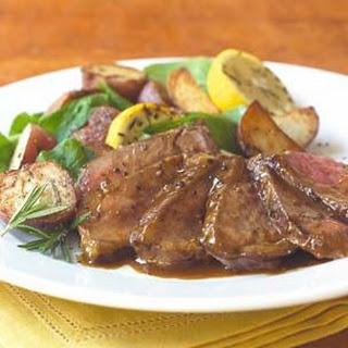 Grilled Rib-Eye Steak with Bordelaise Sauce.