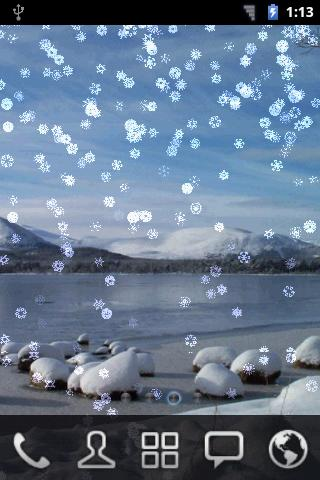 Snowing Snowflakes Wallpaper- screenshot