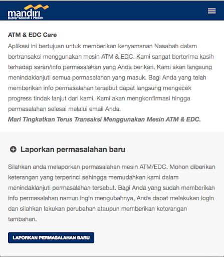 【免費通訊App】ATM & EDC Care Mandiri Wil 1-APP點子