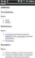 Screenshot of Finnish-Italian Dictionary
