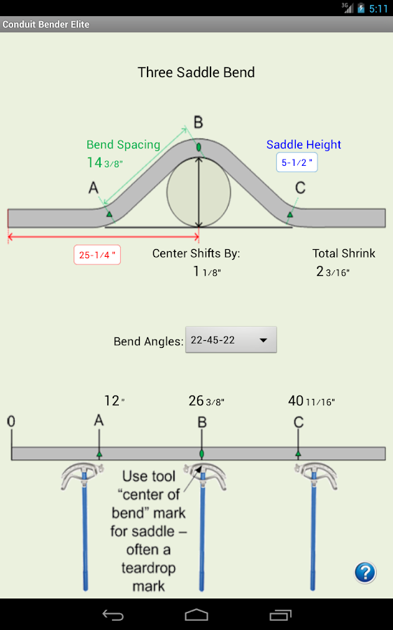conduit bending multiplier