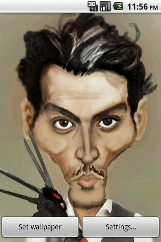 Johnny Depp Caricature LWP - screenshot