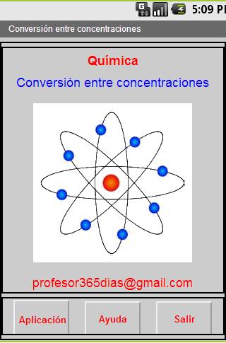 Química. Conversión M N etc.