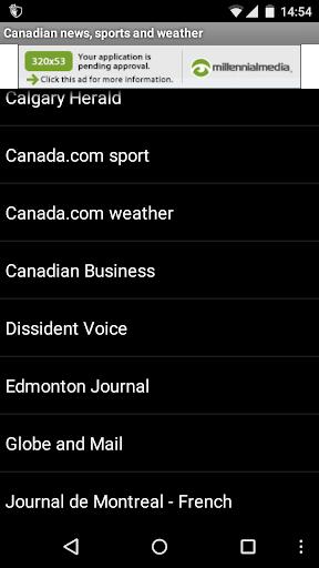 Canadian news sport