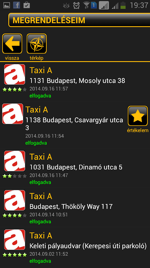 TaxiMost- screenshot