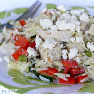 Lemon-Orzo Salad with Veggies and Chicken Recipe