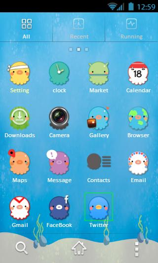 Octopus GO Launcher Theme - screenshot