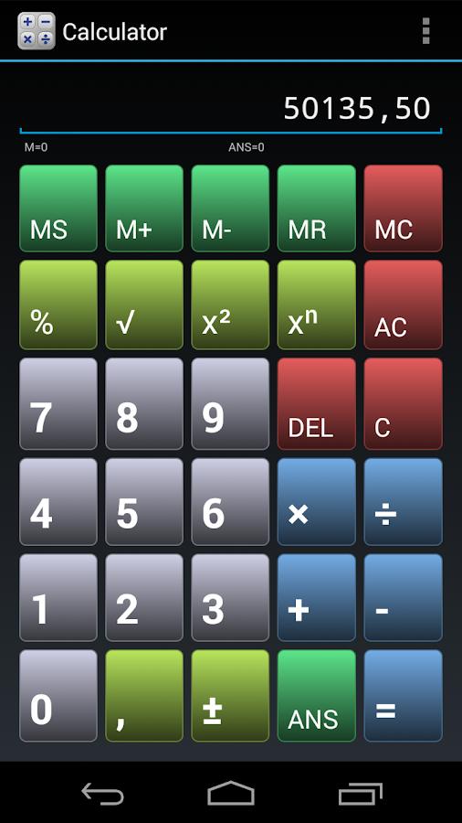 Simple Calculator - screenshot