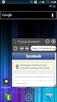 Screenshot of Popup Browser BETA