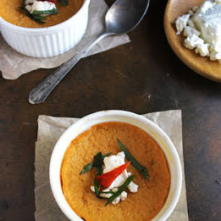 Roasted Red Pepper Egg Custard {Gluten Free and Low Carb}.