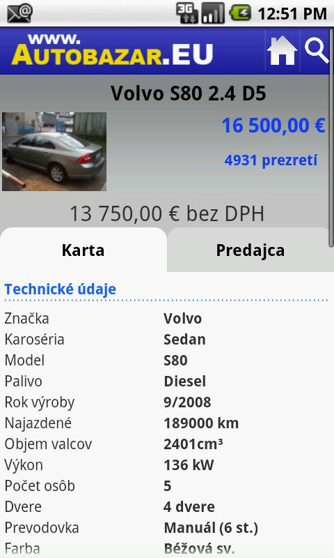 Autobazar EU- screenshot
