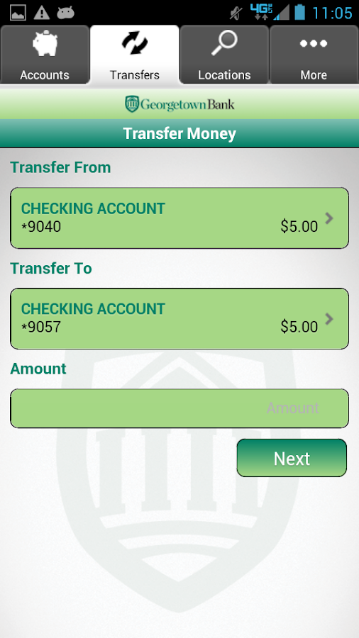 Georgetown Bank Mobile App - screenshot