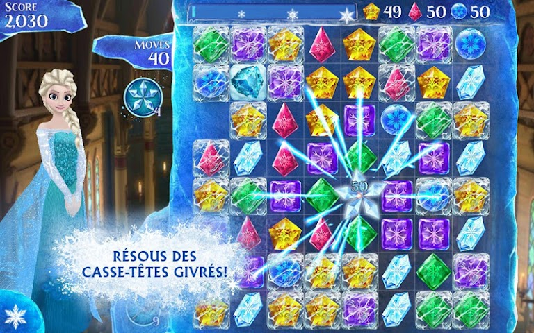 android La Reine des Neiges Free Fall Screenshot 0