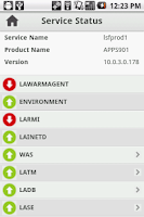 Screenshot of Infor Lawson Mobile Monitor