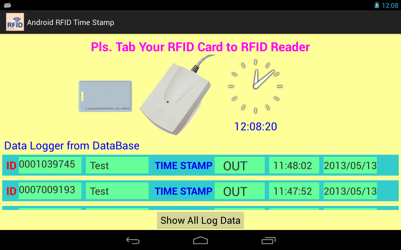 RFID Time  Attendance- screenshot