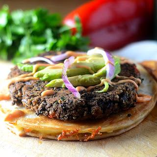 Black Bean Burger Quesadilla.