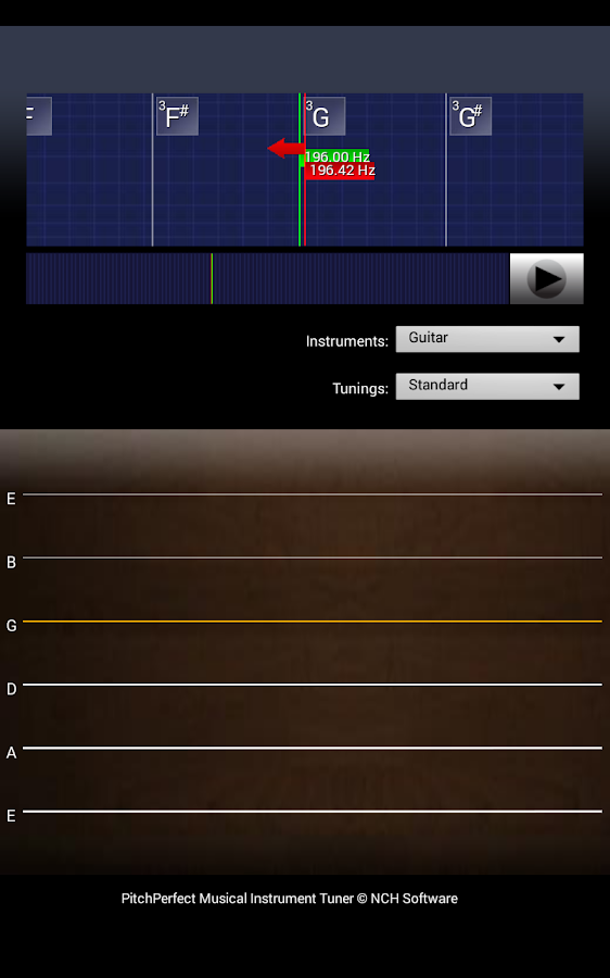 PitchPerfect Free Guitar Tuner - screenshot