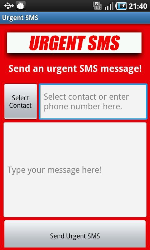 Urgent SMS - screenshot