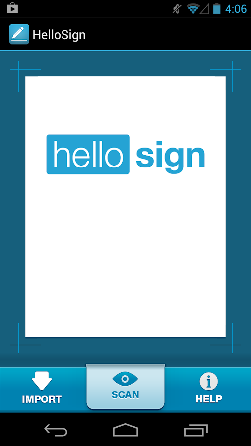 HelloSign - screenshot