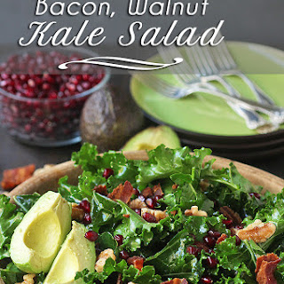 Kale Salad Recipe with Bacon, Walnuts, and Avocado (Gluten Free, Dairy Free)