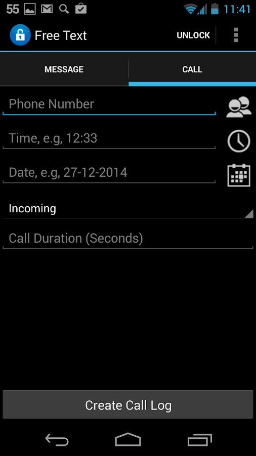 Fake SMS & Call Trial- screenshot