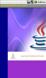 Java Quick Reference Cards - screenshot thumbnail