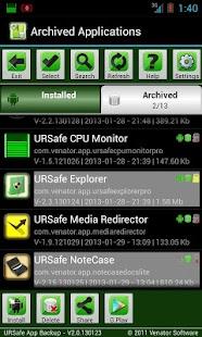 URSafe App Backup/Restore - screenshot thumbnail