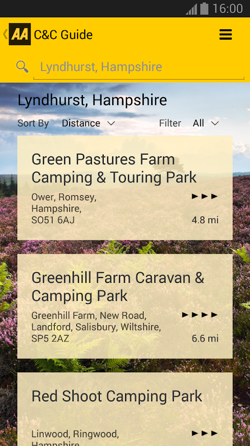 AA Caravan & Camping Guide- screenshot